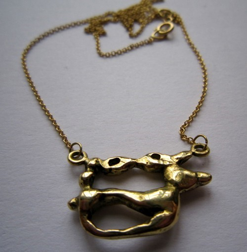 Large deer pendant